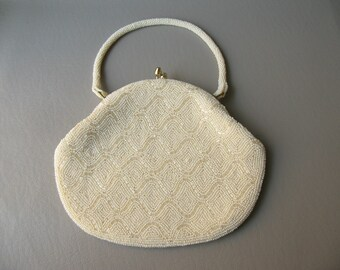 Vintage Evening Bag, Wedding Purse, clutch, Beaded Bag, handbag