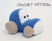 Amigurumi toy tractor crochet pattern pdf tutorial in US English