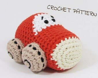 Mister Car crochet pattern stuffed toy tutorial pdf US English