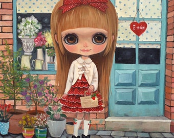 IM NOT ALERGIC -  Oil on Canvas by Nerea Pozo (40x40 cm)