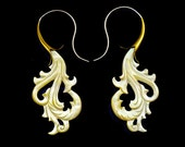 New! Mixed Media, Brass, Shell, Mother of Pearl, Sterling Silver - Blooming Curls ESS
