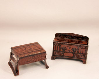 Dollhouse Furniture Marx Newlywed Tin Lithograph 1920s