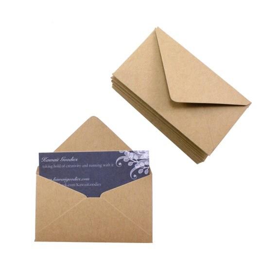 Business card envelopes 25 Kraft brown envelopes 2 1 8 x 3