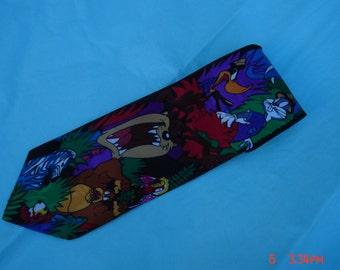 Vintage Looney Tunes Mania Taz Necktie - Very Nice
