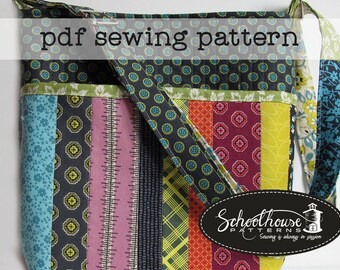 Granny's Pocketbook - PDF sewing pattern - A quilt as you go purse with patchwork - INSTANT DOWNLOAD