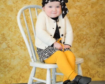 Girls toddlers mustard skinny knit leggings, yoga pants, pull on leggings girls tights, spring knit pant, cuffed skinny pant, lettie and len