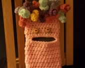 Smartphone Cozy - Hairy Monster - Pink