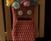 Smartphone Cozy - Hairy Monster - Rose
