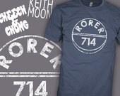 RORER 714 Quaalude Shirt - Cheech and Chong Movie Shirt - Famous Keith Moon T-Shirt - FREE SHIPPING