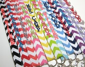 Monogrammed Chevron Lanyard ID Badge Holder - Personalized - Key Strap - Design Your Own from Riley Blake Fabrics