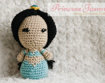 Princess Jasmine Amigurumi Doll inspired by Disney's Aladdin // Disney Crochet Pattern // Instant Download