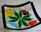 Flower Bowl in Fused Glass