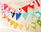 Custom Cake Topper Birthday, Wedding Banner, Mini Bunting, Choose Your Color, Cake Garland, Baby Shower, Bridal Shower, Fabric Pennant Flags