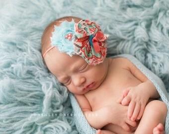 Prince Charming- ruffle and chiffon flower headband