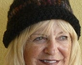 "Bohemian Accessories Women Crochet Hat Black Original Unique Winter Clothing  ""FREE SHIPPING USA"""