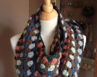 Winterberry Crochet Infinity Scarf