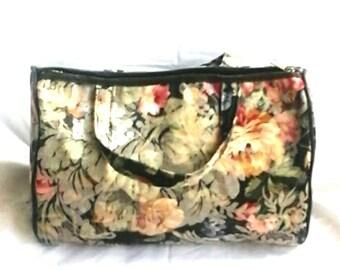 Vintage 80's Floral Doctor bag