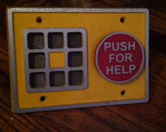 Vintage push for help