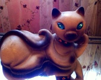 Vintage Siamese cat rose lane