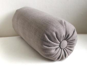 TAUPE  accent lumbar throw Bolster Pillow 6x14 6x16 6x18 6x20 6x22