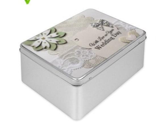 Wedding Gift Memory Boxes : Wedding Gift, Keepsake Wedding gift, Tin Box, handmade, personalised ...