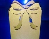 DIY bow treat bags set of six