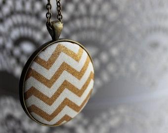 Gold Chevron Necklace, Bronze, Brass, White, Gold Chevron Jewelry, Unique Bridal Shower Favors, Unique Gifts, Geometric Print Womens Fashion