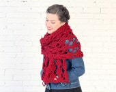 THE WISTERIA WRAP | 24 Color Choices | Chunky Knit Oversized Winter Wrap Scarf
