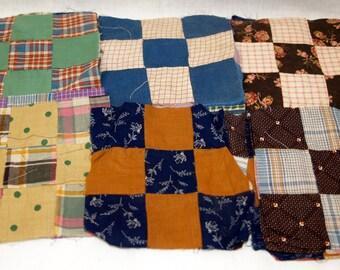 Vintage 9 patch Quilt squares antique nine patch - total of 40 squares