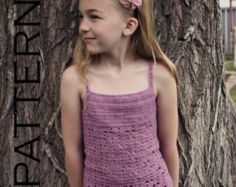 Leah Summer Tank Top Crochet Pattern - PDF