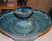 """Ceramic Cat Fountain / Indoor Fountain, Ceramic, Foodsafe  - 12.25 Inch Diameter -  """"Dawn Piazza"""""""