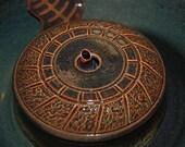 "SECONDS SALE - Ceramic Pet Fountain, Cat Fountain Food safe, Handmade -""Carousel""- 10.25 Inch Diameter"