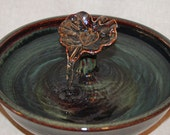 """RESERVED for Luisa A - Cat Drinking Fountain/Home Decor Fountain - 11 Inch Diameter - """"Mahogany Leaf"""""""