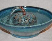 "Cat Drinking Fountain, Pet Fountain - Indoor Fountain - 10.25 Inch Diameter -""Campanula Serene"""