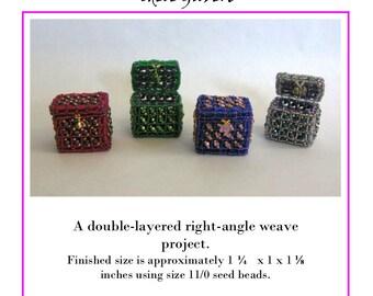Double-Layered  Right Angle Weave Tiny Treasure Box PDF file
