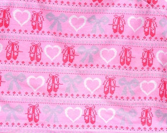 Pink Ballet print Flannel pants pajama dorm lounge made to order your choice size XS - 2X