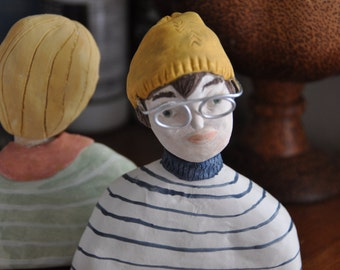 Jonah   Spectacles Series   Creative Paperclay Sculpture