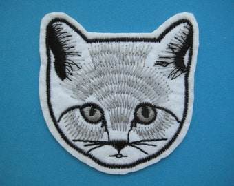 Iron-on Embroidered Patch CAT 2.75 inch