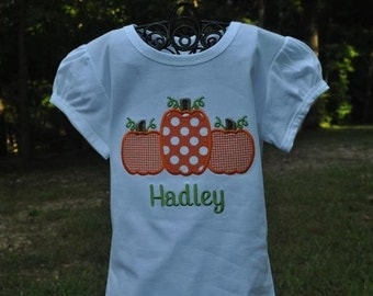 Monogrammed Pumpkin Shirt or Bodysuit...Name Added For Free