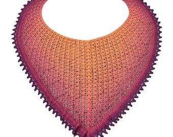 Crochet pattern : Hat full of stars shawl