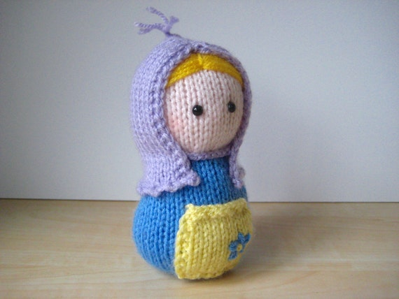 Knitting Pattern Russian Doll : Matryoshka toy doll knitting pattern by fluffandfuzz on Etsy