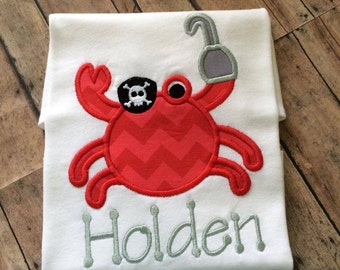 Personalized Crab Shirt