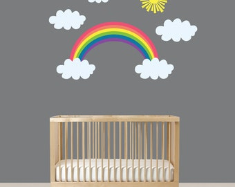 Wall Vinyl - Rainbow Decals - Vinyl Rainbows - Modern Rainbow Decals