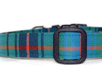 Tartan Dog Collar,,,,,,, Davidson  , Authentic Scottish Tartan Dog Collar
