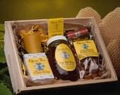 Beehive Gift Basket by Queen Bee Honey in Massachusetts