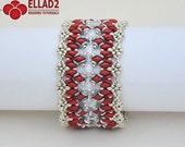 Tutorial Calista Bracelet-Beading Pattern, Instant download,Jewelry Tutorial