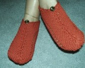 Pair of Terra Cotta Colored Pocket Slippers