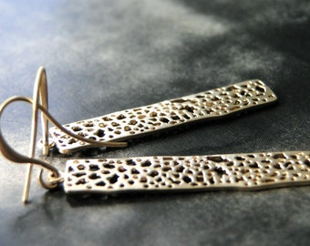Filigree 14k Gold Filled Earrings / Dangle Earrings / Boho Chic  / Textured Earrings / Gift for Her / Spring Accessories / Gift Box