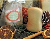Sleigh Ride Christmas Soap Handmade Cold Process Soap Bar Gift