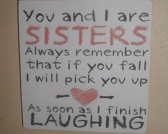 shabby chic sisters sign plaque  shabby chic christmas gift